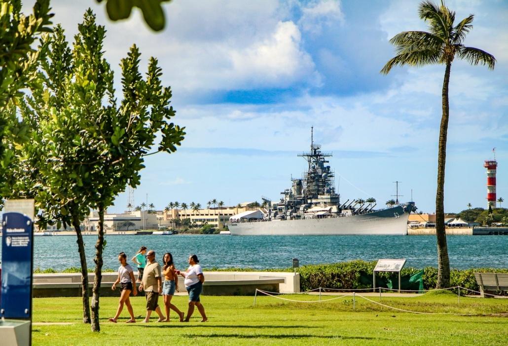 USS Battleship Missouri from Visitor Center Pearl Harbor