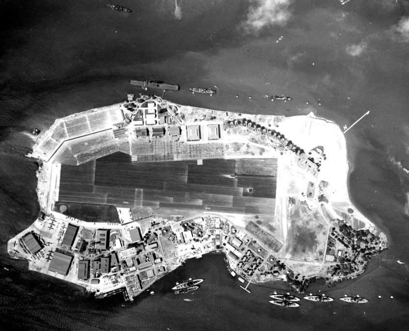 Pearl Harbor Ford Island From Above