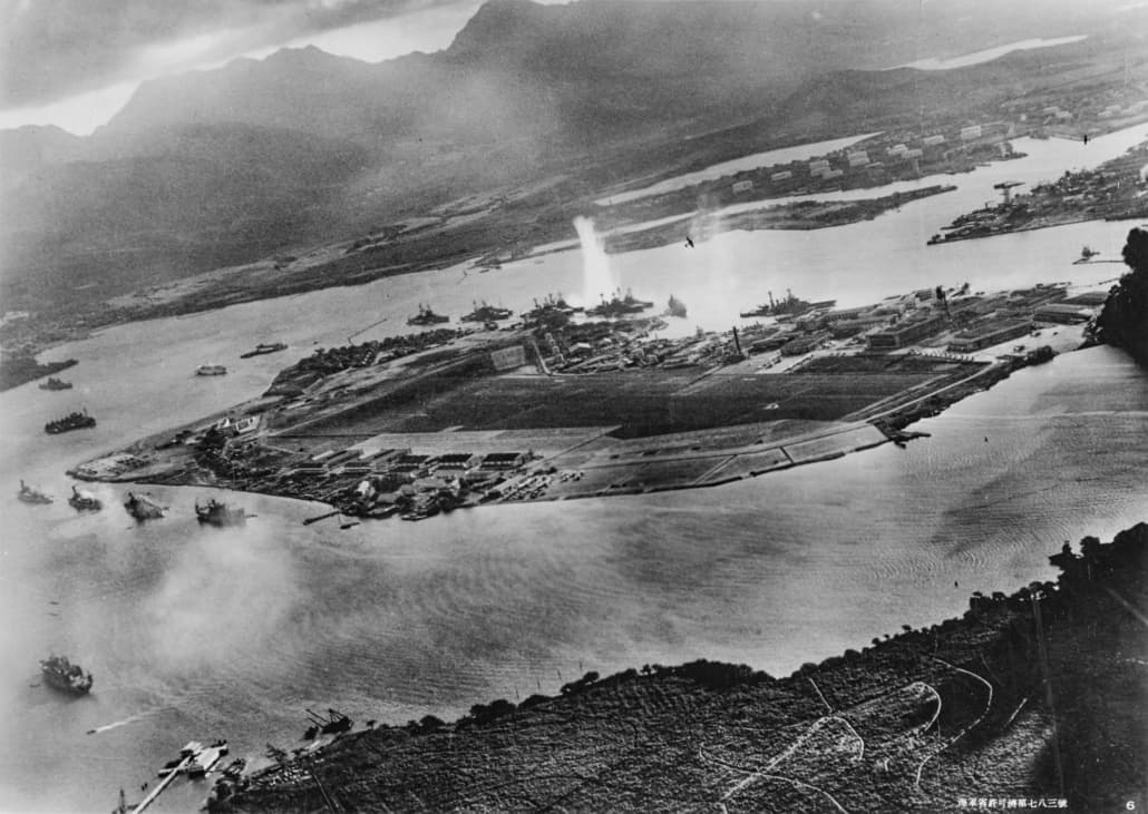 Pearl Harbor Attack, December 7th 1941 by Japanese Pilot