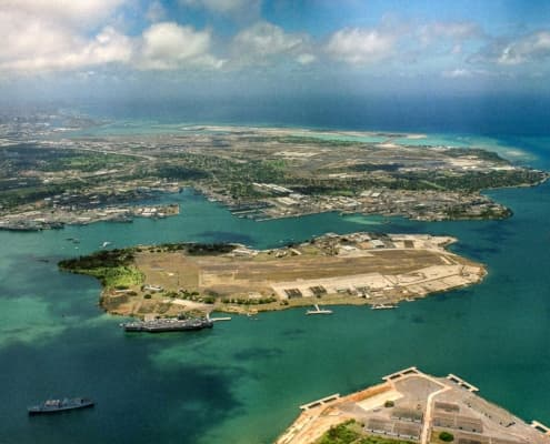Ford Island aerial photo RIMPAC by PH Thompson USN wikimedia