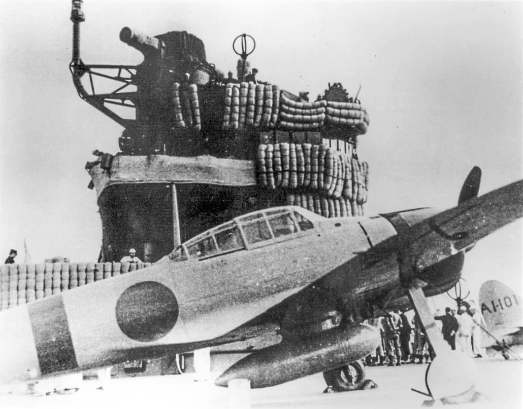 JapaneseAMZero on carrier Akagi DuringPearlHarborAttackbyImperialJapaneseNavy