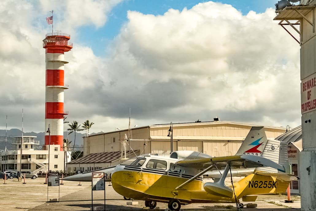 Pacific Aviation Museum Control Tower and Float Plane Exterior