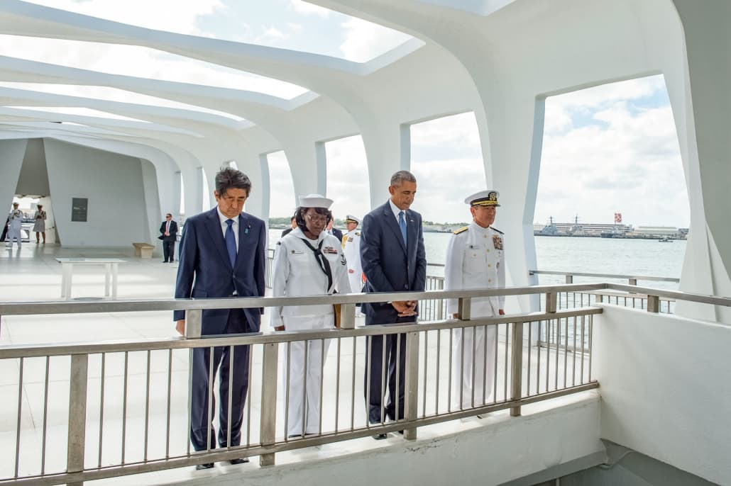 President Barack Obama and Prime Minister Abe Visit USS Arizona Memorial
