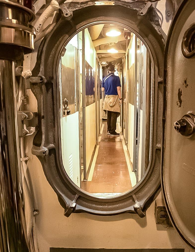 USS Bowfin Submarine Interior Hallway