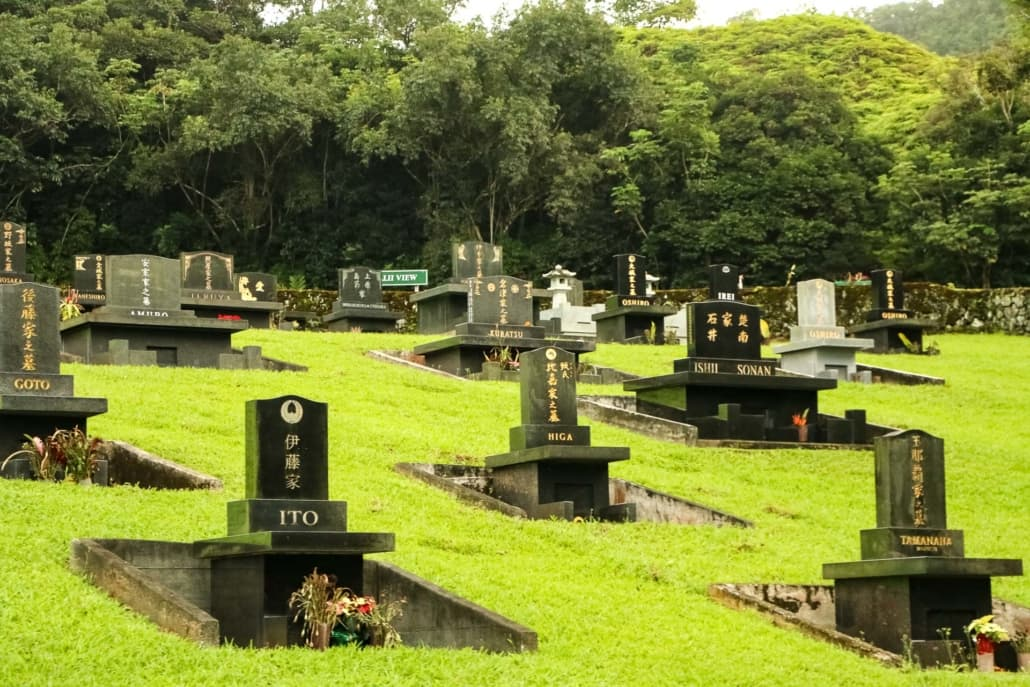 Valley Of The Temples Japanese Tombstones