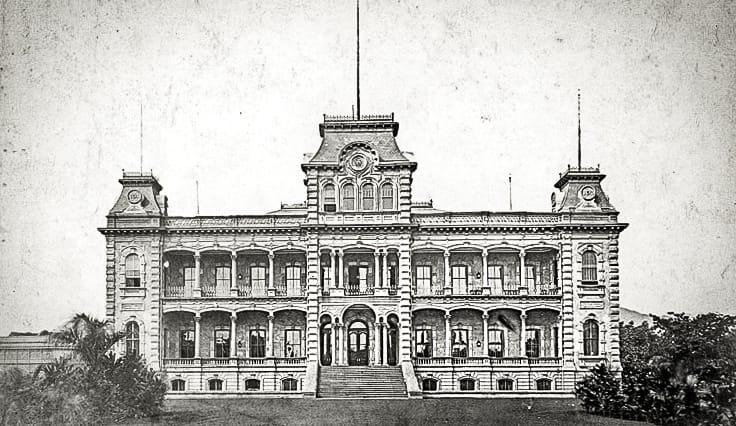 Iolani Palace in Bishop Museum image