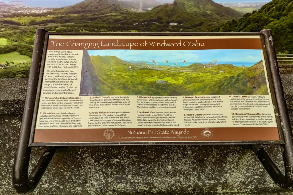 Nuuanu Valley Lookout Sign