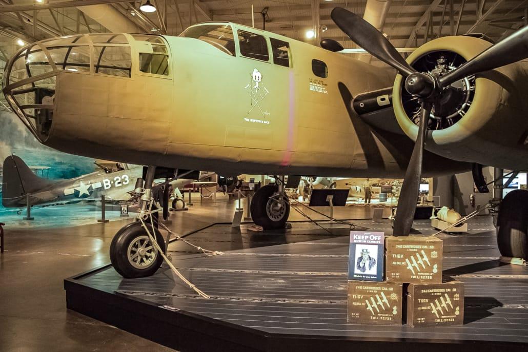 Pacific Aviation Museum B-24 Bomber exhibit