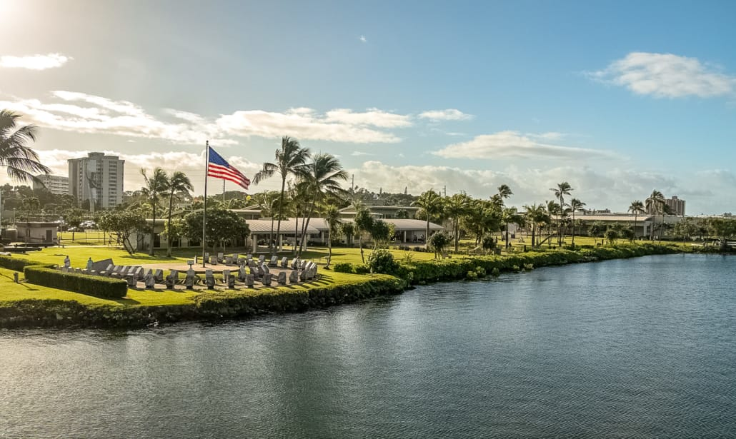 Pearl Harbor Visitor Center Promenade and Circle of Rememberance