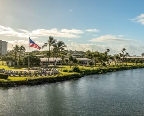 Pearl Harbor Visitor Center Promenade and Circle of Rememberance