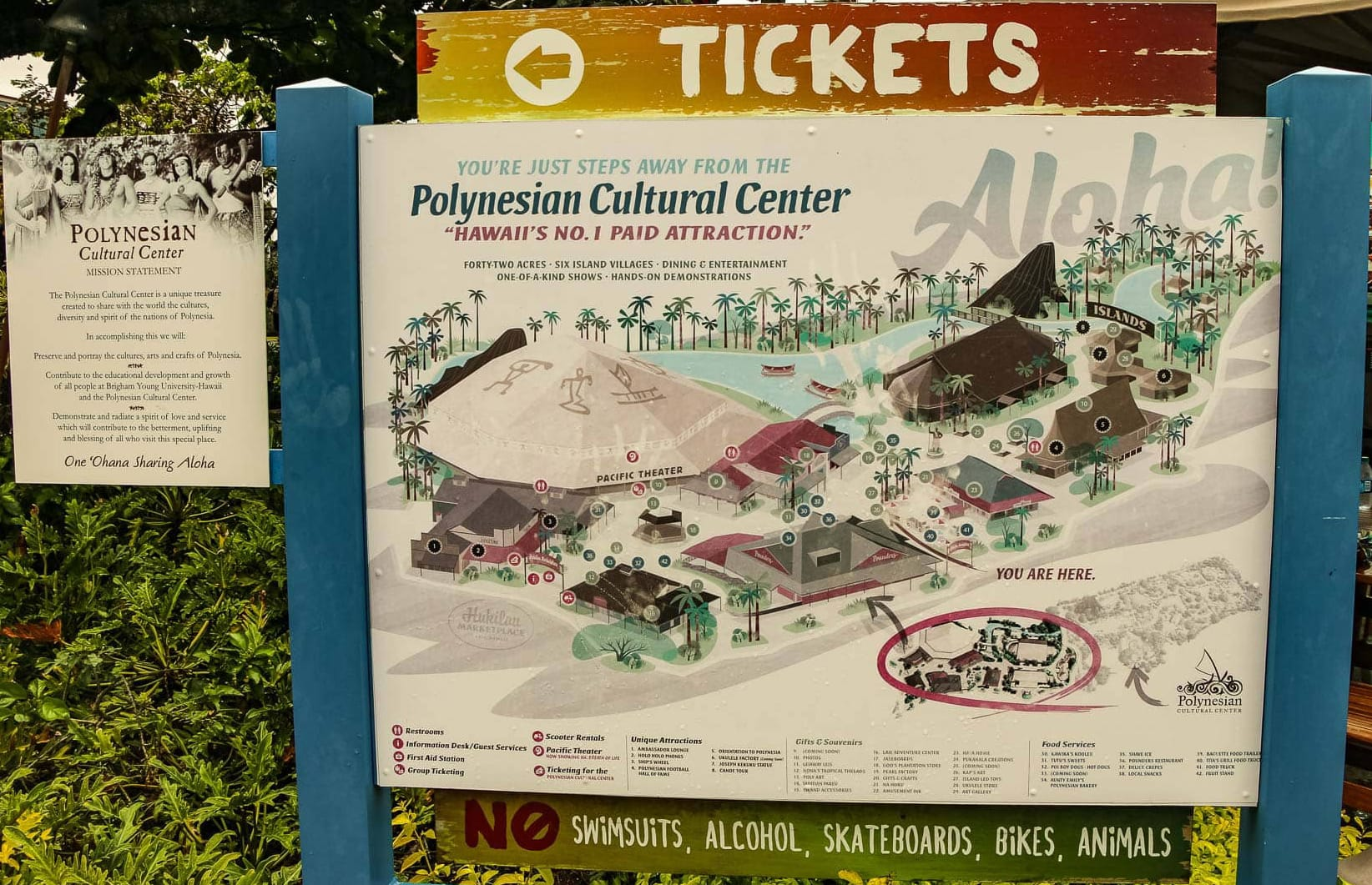 Polynesian cultural center sign