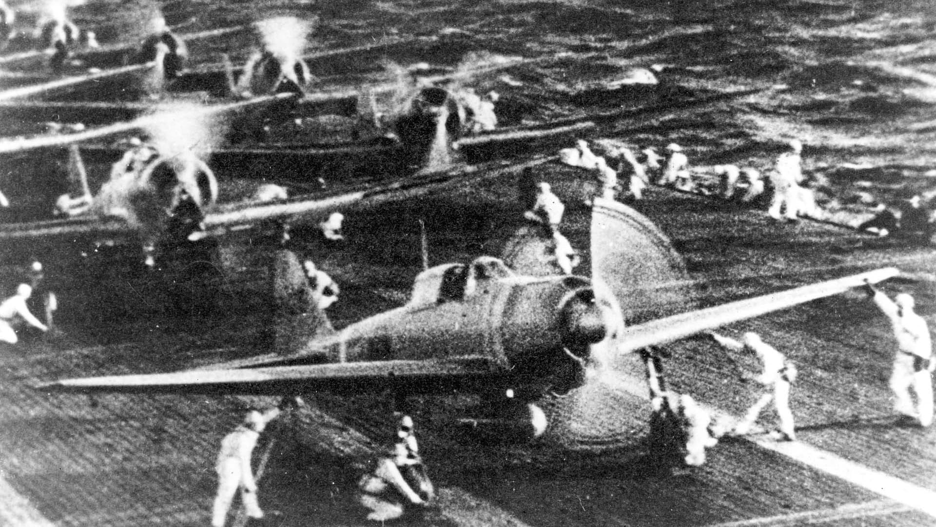 Japanese Aircraft aboard Carrier Shokaku Pearl Harbor Attack  National Archives