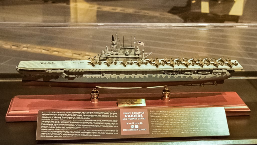 Pearl Harbor Aviation Museum Doolittle Raid Model