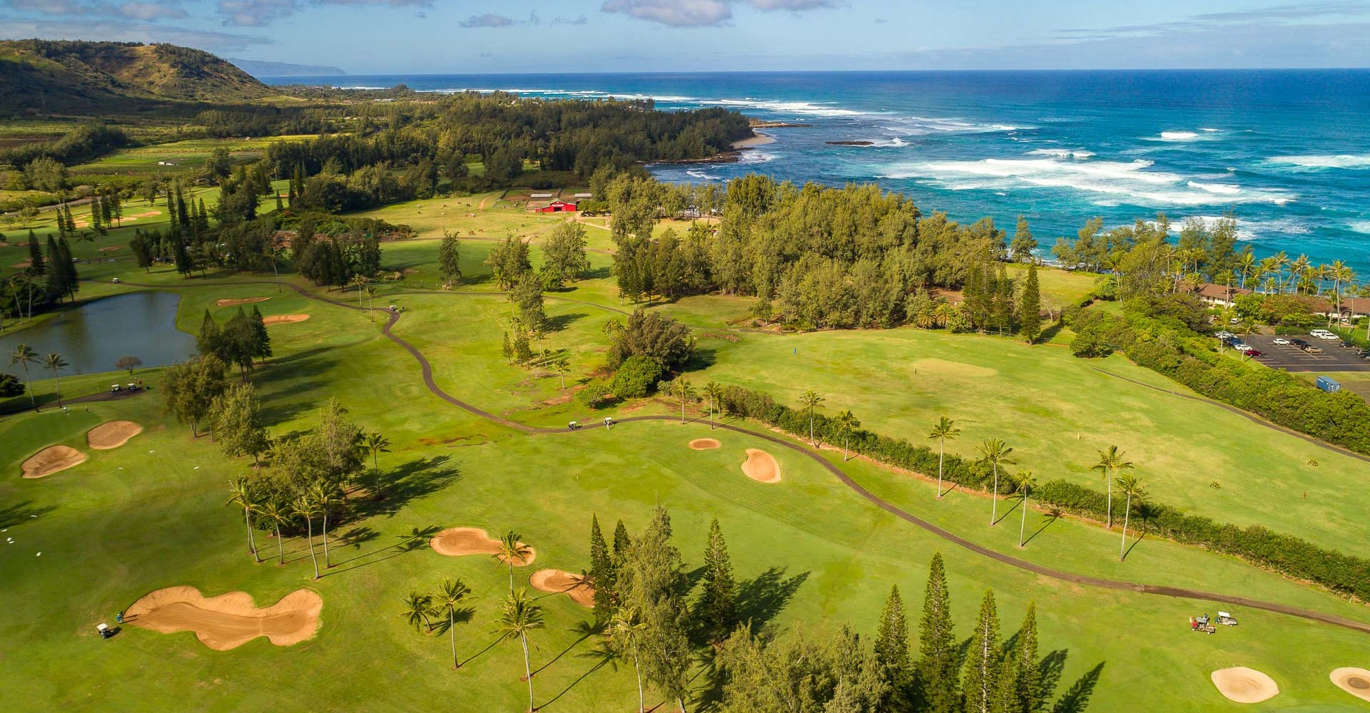 Turtle Bay Golf Course Aerial