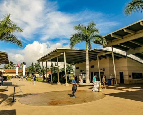 Pearl Harbor Visitor Center at Entrance