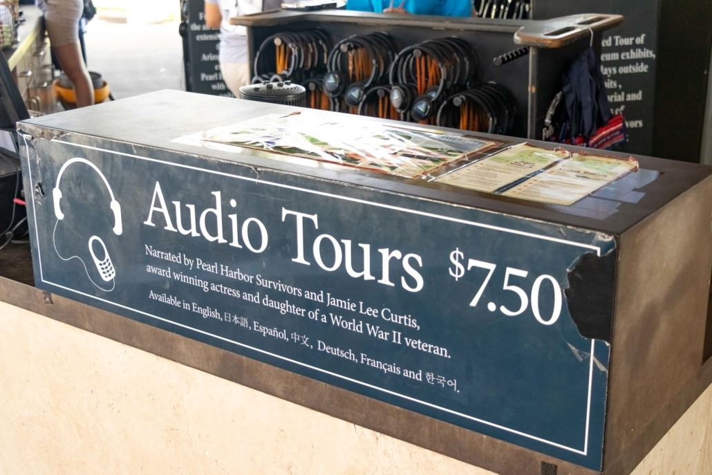 Pearl Harbor Audio Tours Desk Oahu