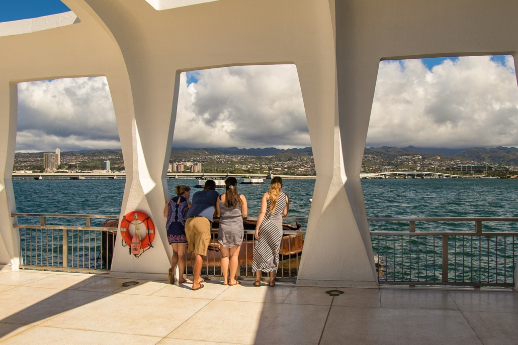 Arizona Memorial Visitors Viewing Turret