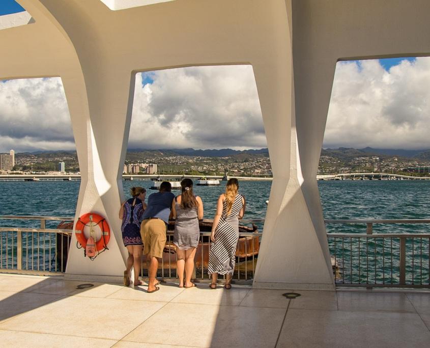 Arizona Memorial Visitors Viewing Turret