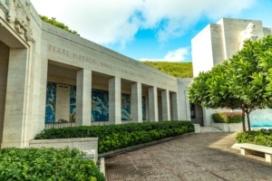 Punchbowl Cemetery Statue and Murals Oahu