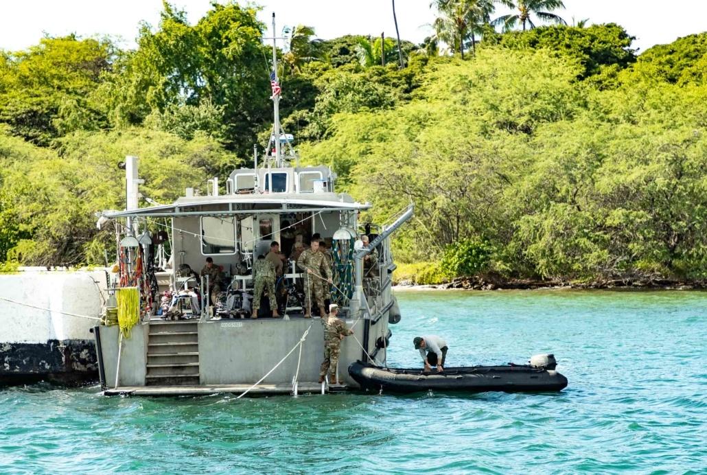Pearl Harbor Day Navy Divers Prepare for Internment at Arizona Memorial
