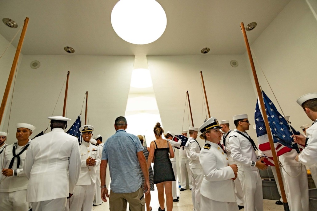 Pearl Harbor Day Navy Sailors Hoisting Flags