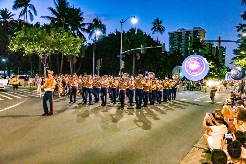Pearl Harbor Day Parade Marines Marching Band