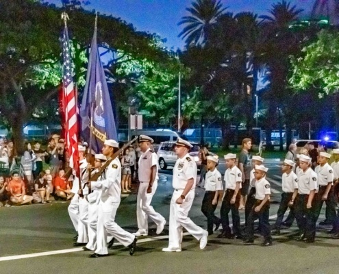 Pearl Harbor Day Parade Navy Cadets