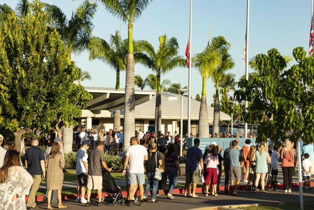 Pearl Harbor Day Visitor Entrance Line Oahu