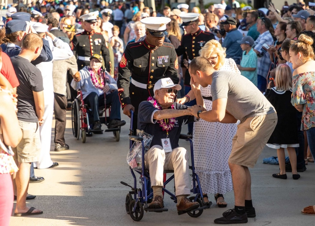 Pearl Harbor Day Visitor and Survivor Meet Oahu