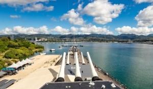 Pearl Harbor USS Missouri Overlooking Arizona Memorial Oahu