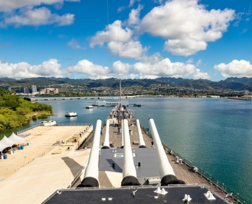 Pearl Harbor USS Missouri Overlooking Arizona Memorial Oahu