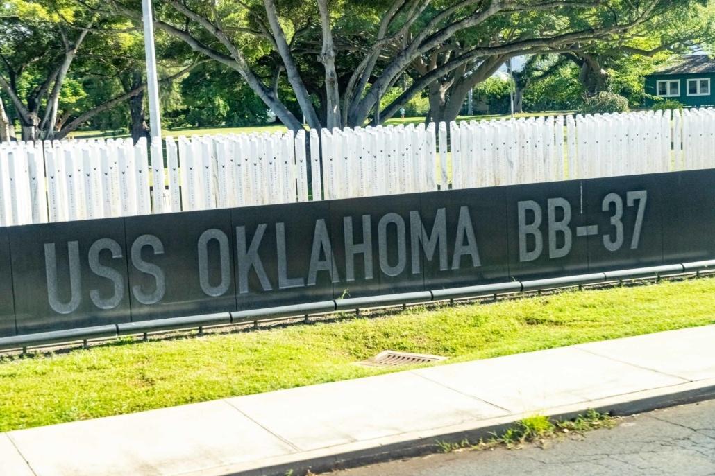 USS Oklahoma Memorial Pearl Harbor Ford Island Oahu