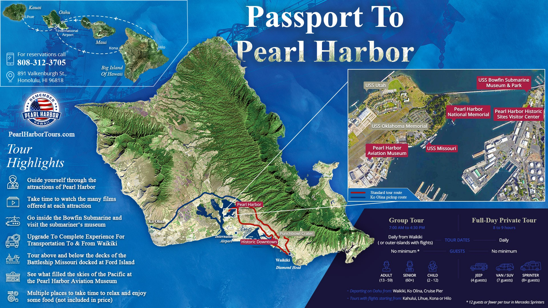 Passport To Pearl Harbor Map