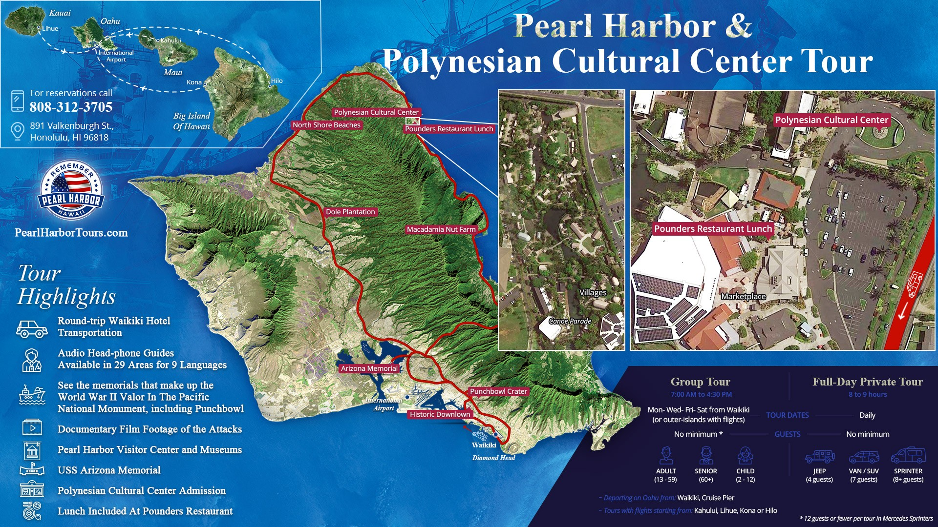 Polynesian Cultural Center Pearl Harbor Map