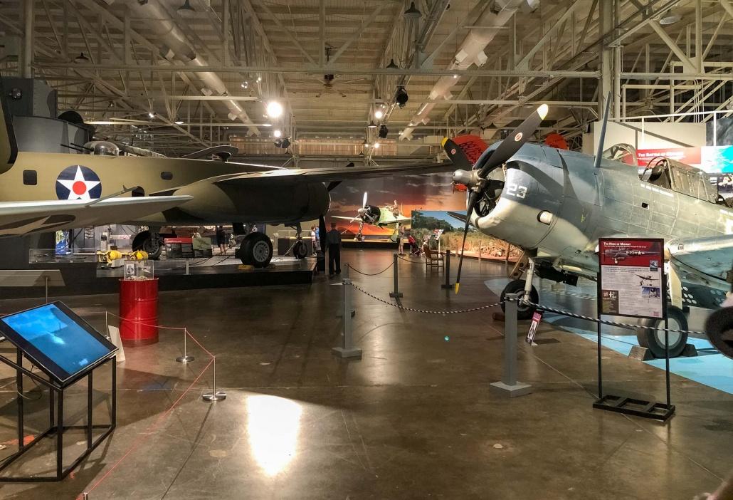 Interior Planes at Pearl Harbor Aviation Museum Oahu