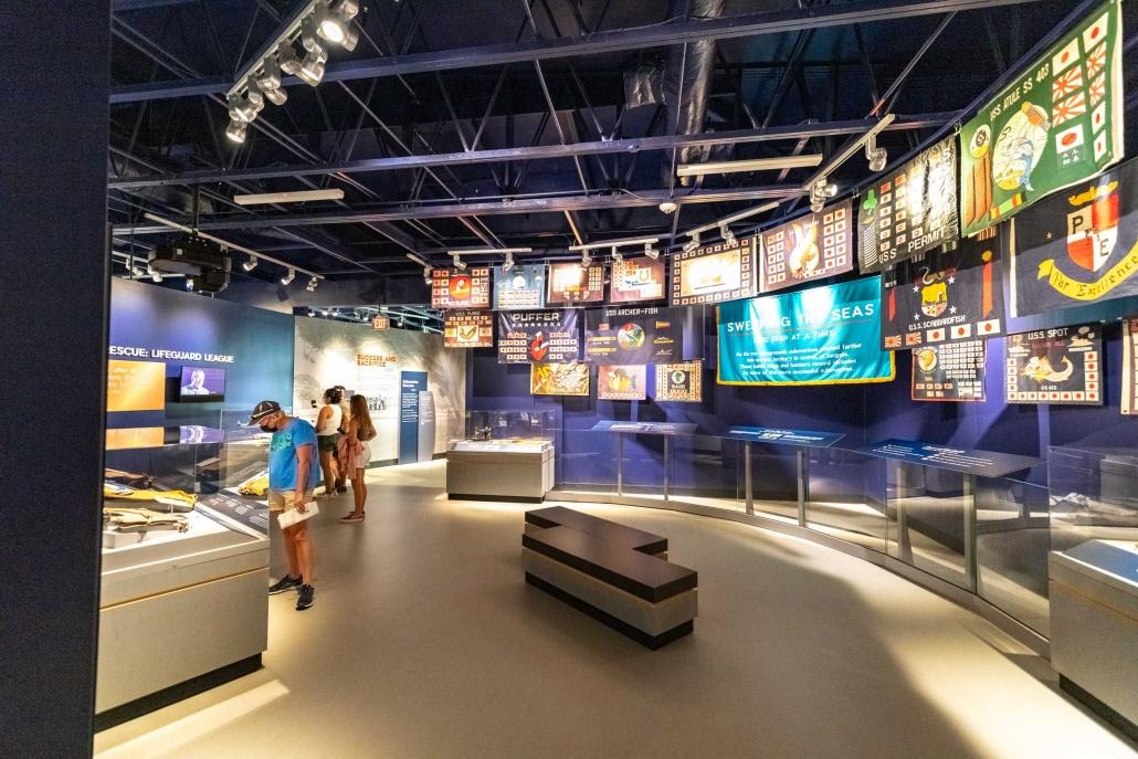 Pacific Fleet Submarine Museum Battle Flags Room Pearl Harbor Oahu