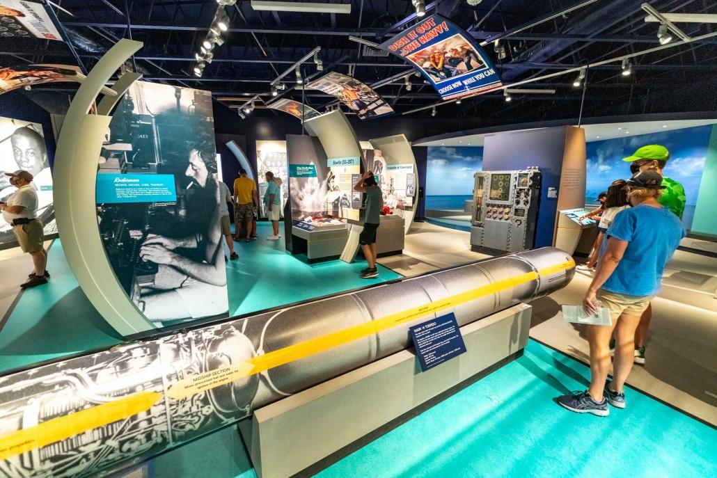 Pacific Fleet Submarine Museum Torpedo and visitors Pearl Harbor Oahu