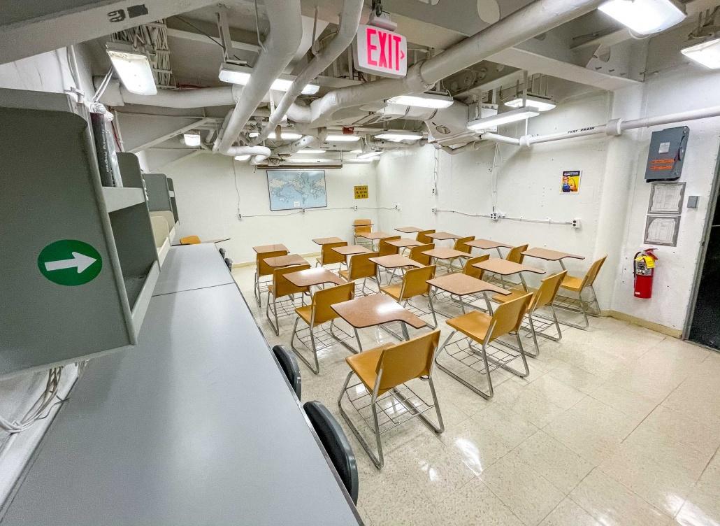 USS Missouri Interior Classroom Pearl Harbor Oahu