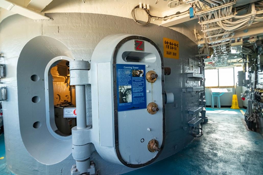 USS Missouri Interior Fire Control Door and Bridge Pearl Harbor Oahu