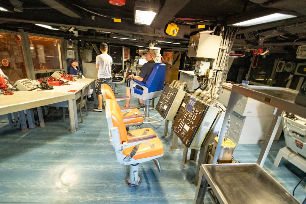 USS Missouri Interior Fire Control Room Pearl Harbor Oahu