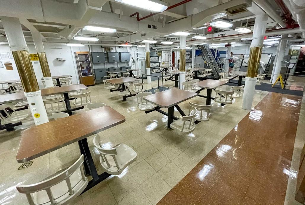 USS Missouri Interior Mess Hall Pearl Harbor Oahu