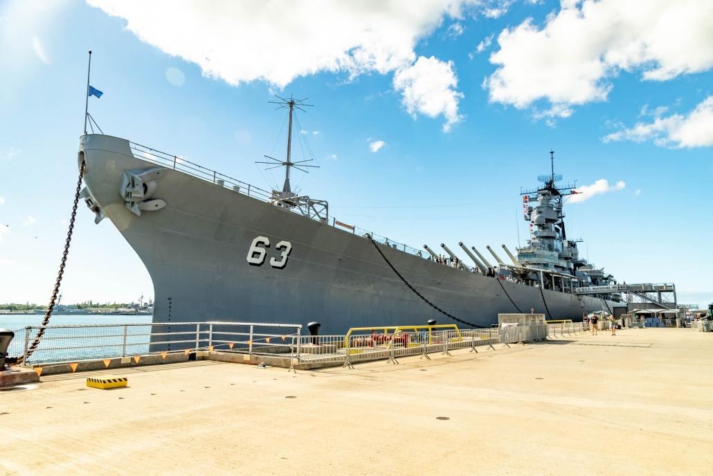USS Missouri at Dock Pearl Harbor Oahu