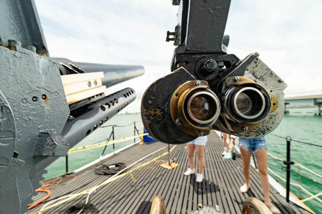 Bowfin Submarine Deck Gun Sights Pearl Harbor Oahu
