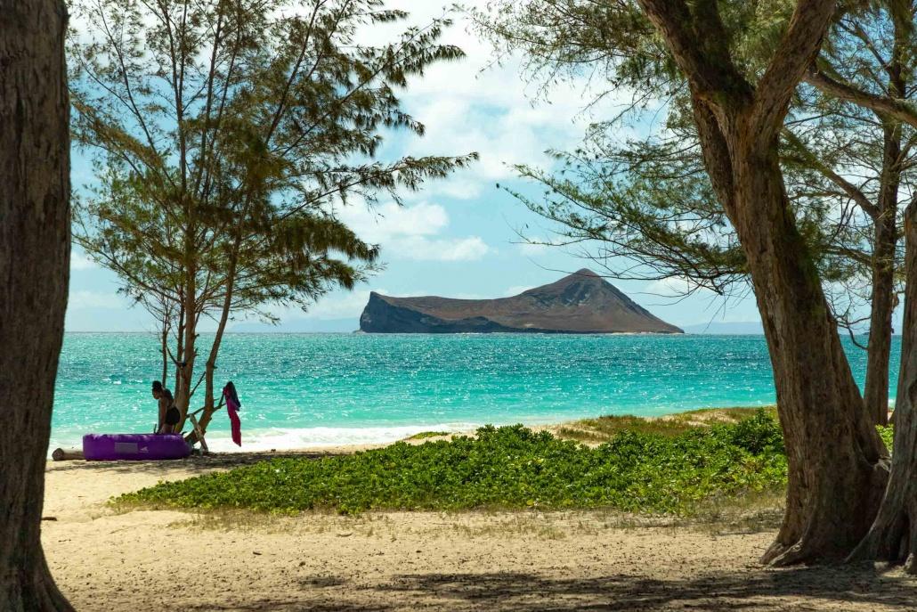 East Oahu Island and Beach View