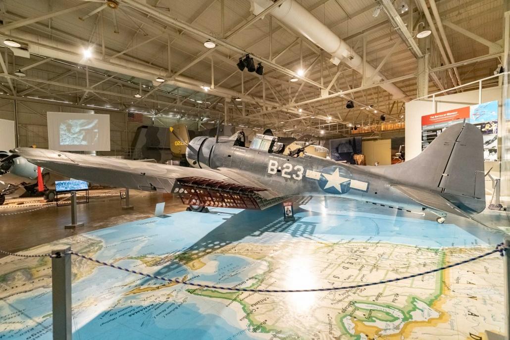 Pearl Harbor Aviation Museum Dauntless SBD Aircraft Oahu