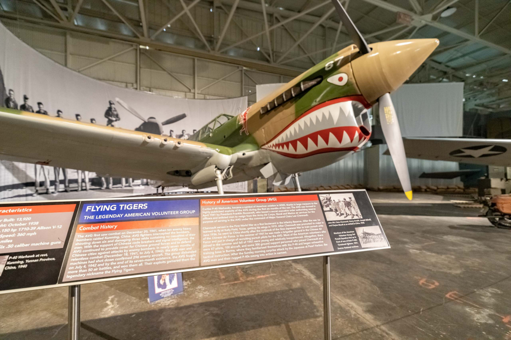 Pearl Harbor Aviation Museum Flying Tiger P-40 Display Oahu