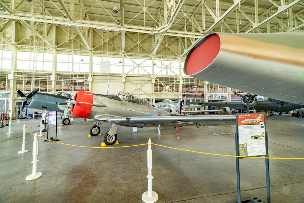 Pearl Harbor Aviation Museum Hanger 79 Planes and Jet Nose Oahu
