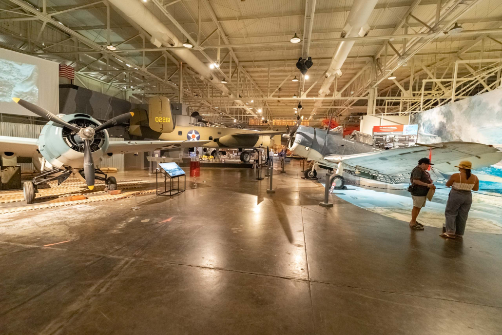 Pearl Harbor Aviation Museum Planes and Visitors Oahu