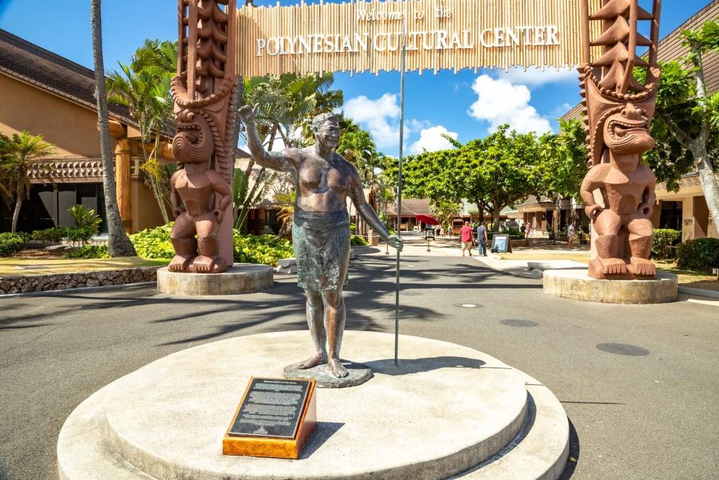 Polynesian Cultural Center Entrance Statue Oahu
