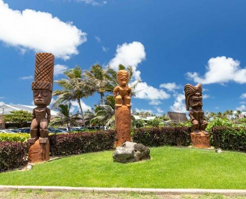 Polynesian Cultural Center Entrance Tiki Oahu